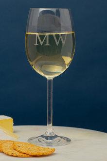 Personalised Initials Wine Glass - 291917