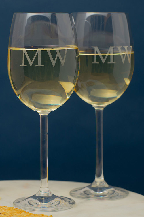 Personalised Initials Wine Glass Set of 6