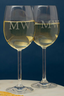 Personalised Initials Wine Glass Set of 6 - 291948