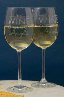 Personalised Its Wine O'clock Wine Glass Set of 6 - 291949
