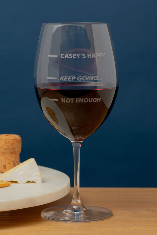 Personalised Not Enough, Keep Going... Happy Large Wine Glass