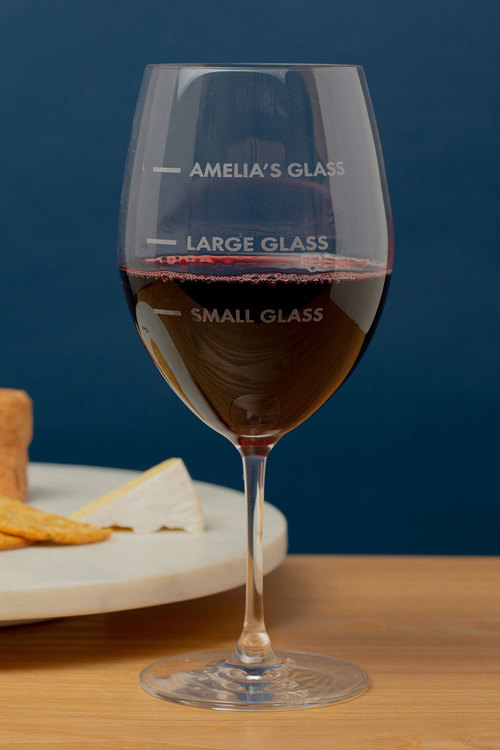 Personalised Small Glass, Large Glass... Large Wine Glass