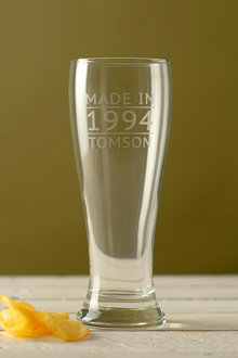 Personalised Made in Date and Name Beer Glass - 291972