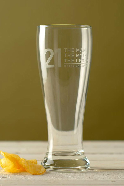 Personalised The Man, The Myth, The Legend Beer Glass