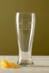 Personalised Wedding Party Bow Tie Beer Glass
