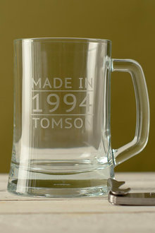 Personalised Made In Date and Name Beer Mug - 291985