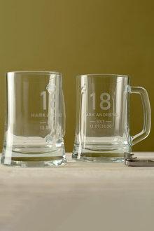 Personalised Birthday Est Beer Mug Set of 2 - 291987