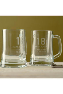 Personalised Birthday Shield Beer Mug Set of 2 - 291988