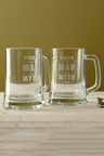 Personalised The Man, The Myth, The Legend Beer Mug Set of 2