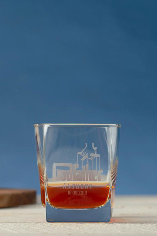 Personalised Godfather Square Scotch Glass