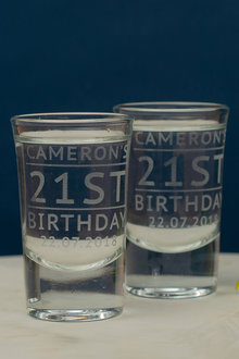 Personalised Birthday Name and Age Shot Glass Set of 6 - 292004