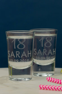 Personalised Birthday Age and Name Shot Glass Set of 6 - 292005