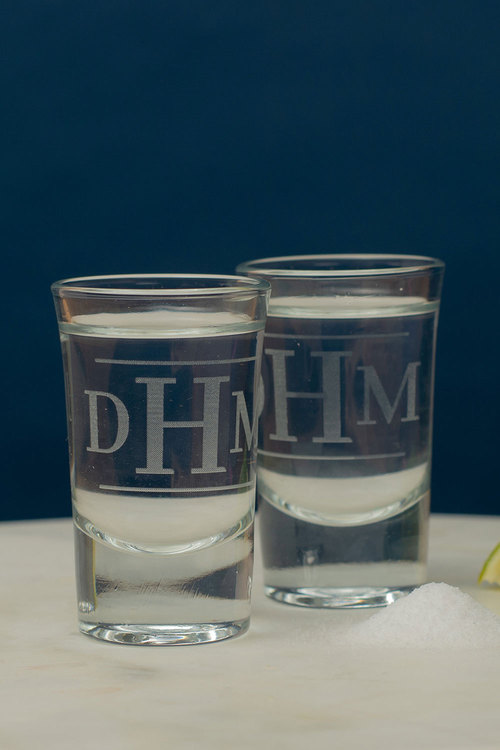 Personalised Initial Shot Glass Set of 6