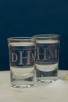 Personalised Initial Shot Glass Set of 6 - 292008