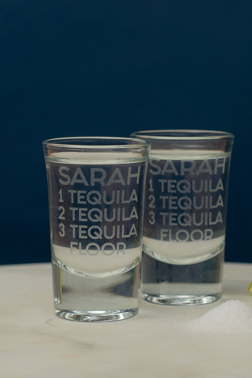 Personalised Tequila Floor Shot Glass Set of 6