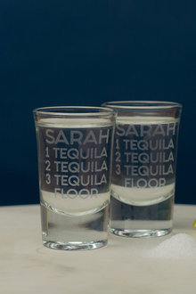 Personalised Tequila Floor Shot Glass Set of 6 - 292009