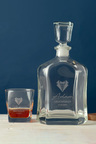 Personalised Bow Tie & Lapel Royal Decanter & 2 Square Scotch