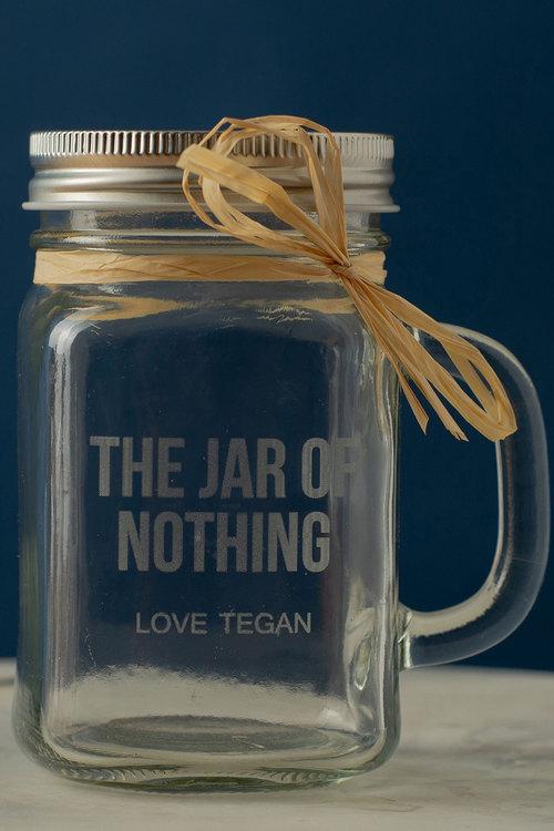 Personalised The Jar of Nothing Glass Mason Jar