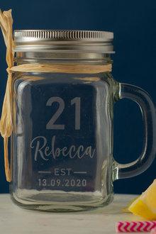 Personalised Birthday Est Glass Mason Jar - 292017