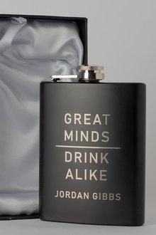 Personalised happy Birthday Gift Boxed Black Metal Hip Flask - 292027
