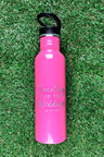 Personalised Wedding Sports Bottle with flip lid