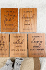 Personalised Wooden Milestone Baby Cards 6 Piece Set