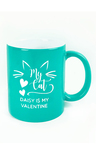 Personalised My Cat is My Valentine Ceramic Mug