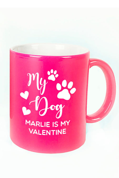 Personalised My Dog is My Valentine Ceramic Mug