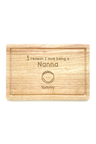 Personalised Reasons Why Chopping Board (1 Head)
