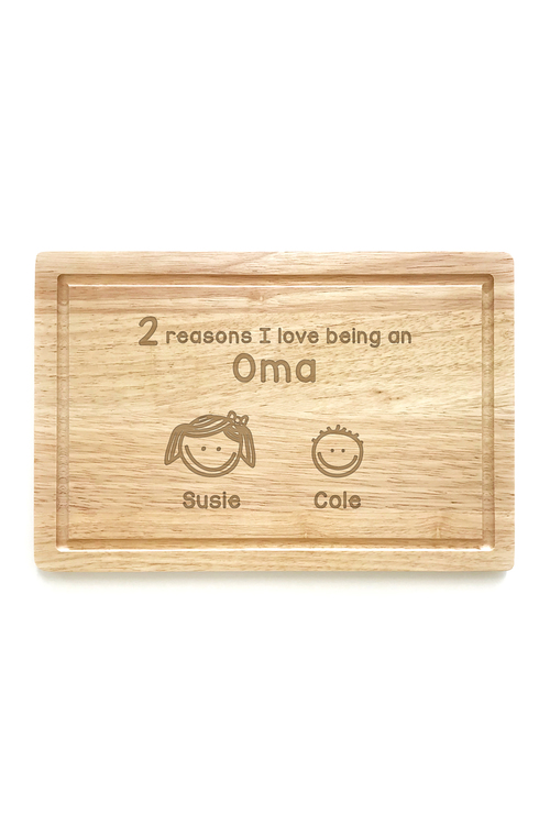 Personalised Reasons Why Chopping Board (2 Heads)