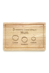Personalised Reasons Why Chopping Board (3 Heads)
