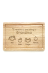 Personalised Reasons Why Chopping Board (4 Head)