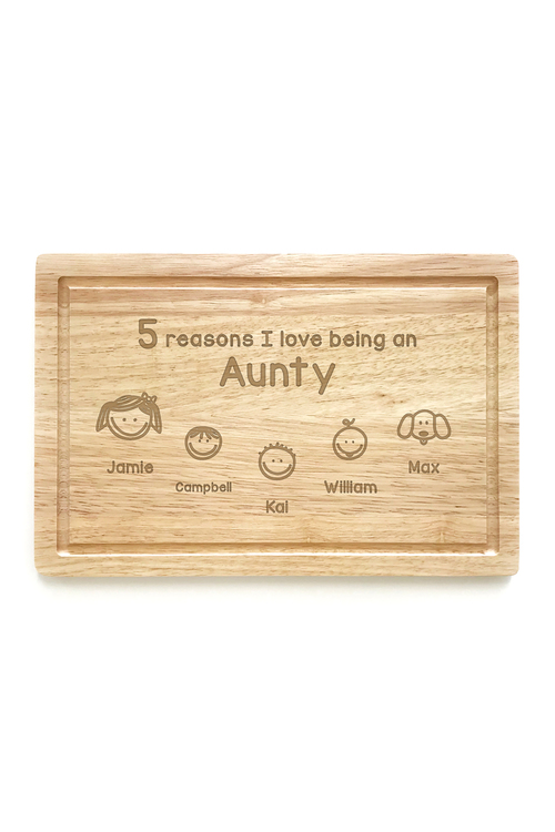 Personalised Reasons Why Chopping Board (5 Heads)