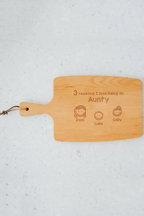 Personalised Reasons Why Cheese Board (3 Heads)