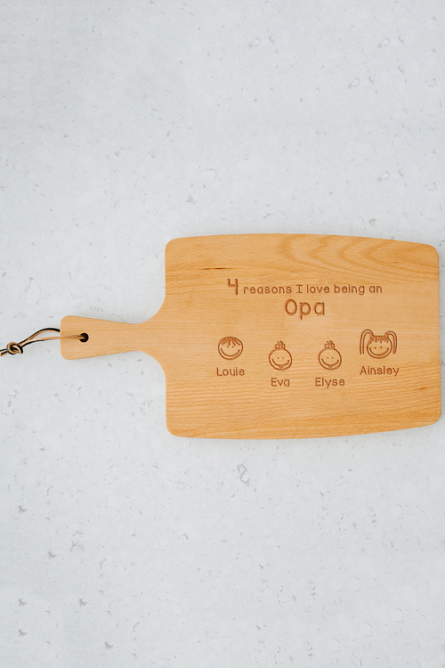 Personalised Reasons Why Cheese Board (4 Heads)