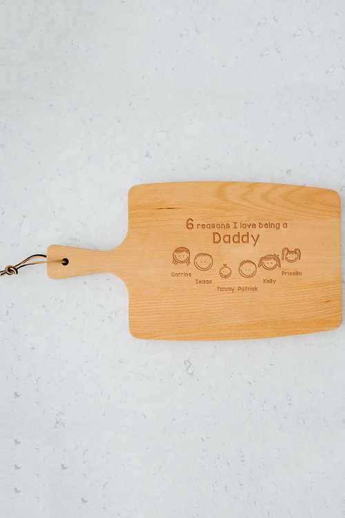 Personalised Reasons Why Cheese Board (6 Heads)