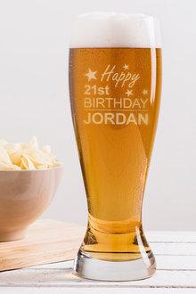 Personalised Birthday Giant Beer Glass - 292069