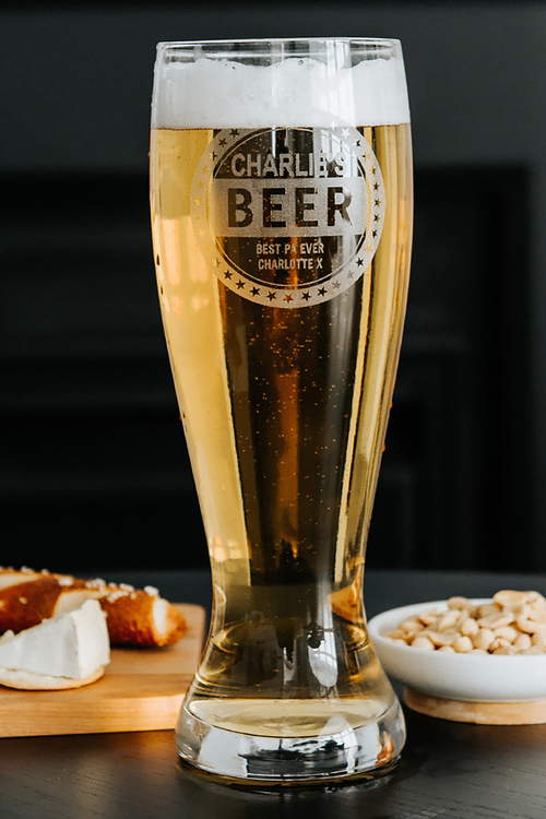 Personalised Beer Lover's Giant Beer Glass
