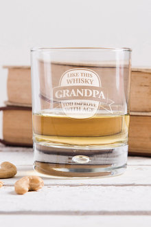 Personalised Improves With Age Whisky Glass - 292074