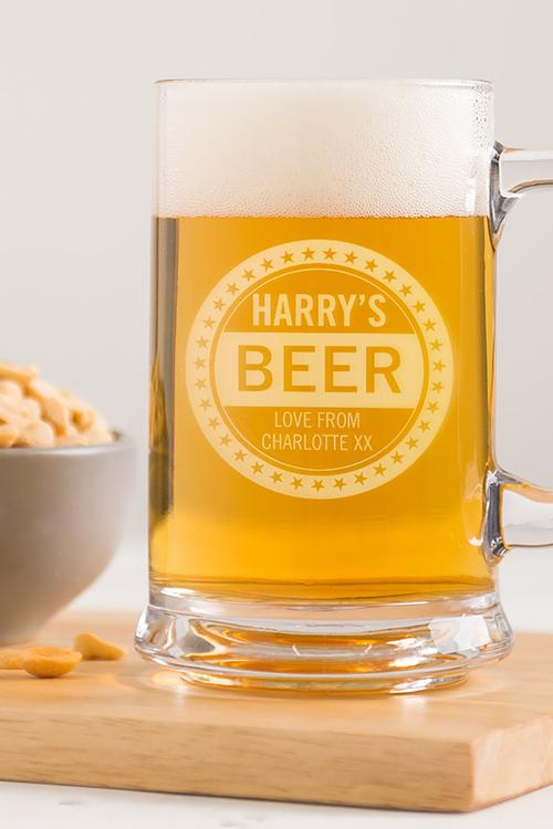 Personalised Beer Lover's Tankard