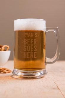 Personalised Beer Goes Here Tankard - 292082