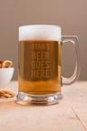 Personalised Beer Goes Here Tankard