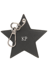 Personalised Monogrammed Leather Star Keyring