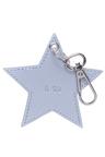 Personalised Monogrammed Leather Metallic Star Keyring