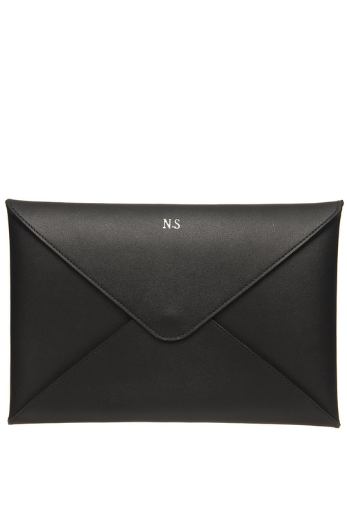 Personalised Monogrammed Leather A5 Envelope Pouch