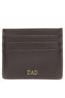 Personalised Monogrammed Leather Card Sleeve
