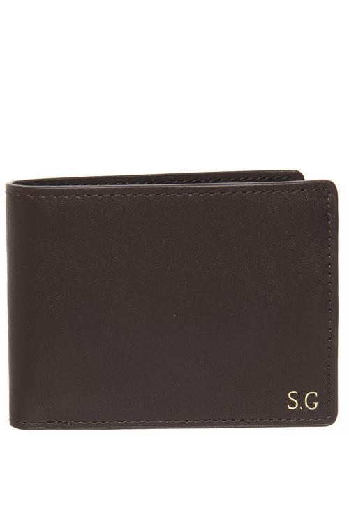Personalised Monogrammed Leather Slim Line Wallet