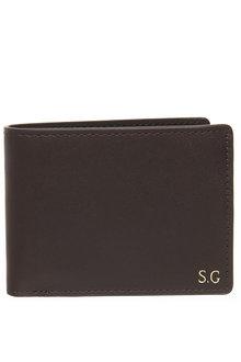 Personalised Monogrammed Leather Slim Line Wallet - 292094