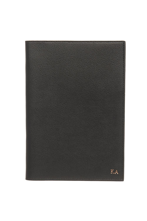Personalised Monogrammed Leather Notebook Cover