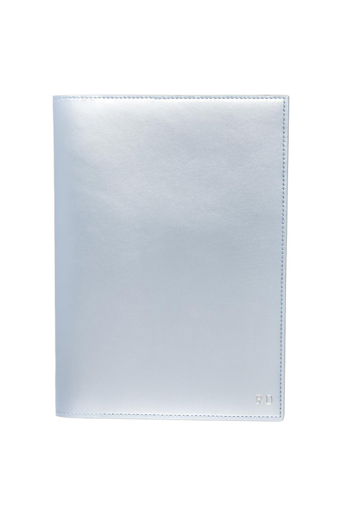Personalised Monogrammed Leather Metallic Notebook Cover